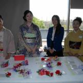 Volunteers in beautiful kimono at the VIP table (photographed by Stuart Yamashiro)