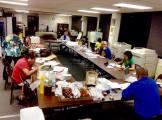 Volunteers planning for the Bazaar! Photographed by Joseph Kamiya.