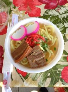 One of the staples of Okinawan cuisine: Okinawa Soba (photo by Mario Toyama)
